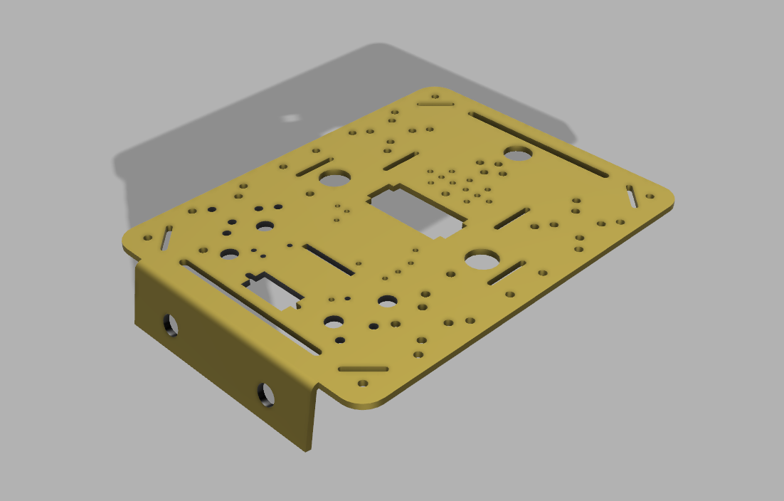 Chassis Body Modelled In Fusion 360