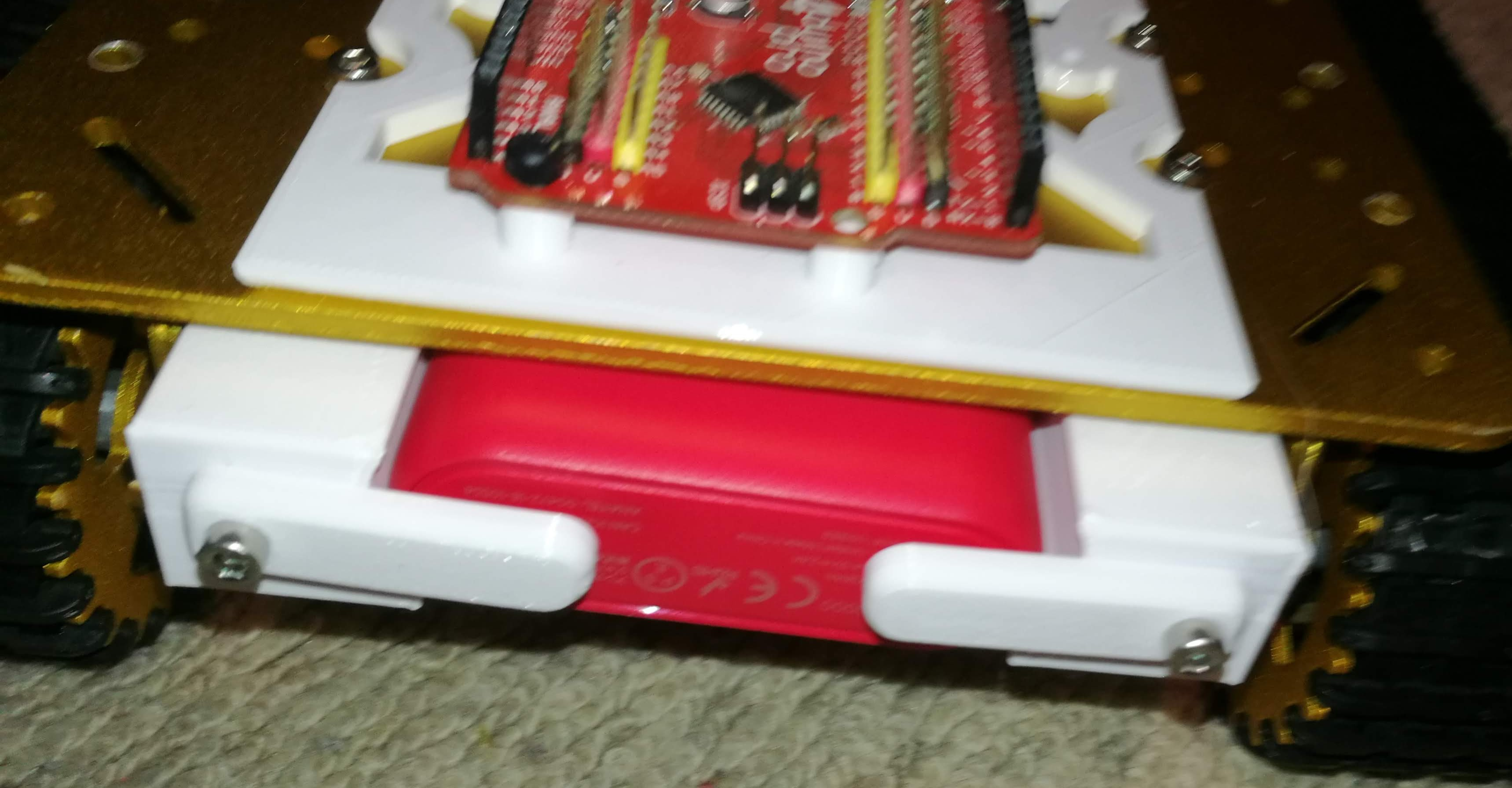 Mark 3 Battery Holder On Robot